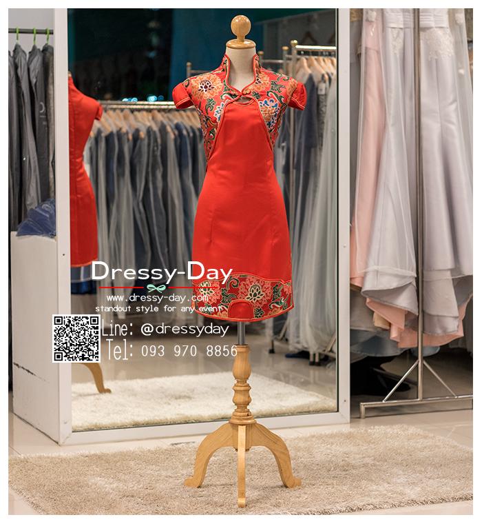 รหัส ชุดกี่เพ้า :KPS052 ชุดกี่เพ้าพร้อมส่ง มีชุดกี่เพ้าคนอ้วน แบบสั้น สีแดง คัตติ้งเป๊ะมาก ใส่ออกงาน ไปงานแต่งงาน ใส่เป็นชุดพิธีกร ชุดเพื่อนเจ้าสาว ชุดถ่ายพรีเวดดิ้ง ชุดยกน้ำชา หรือ ใส่ ชุดกี่เพ้าแต่งงาน สวยมากๆ ค่ะ