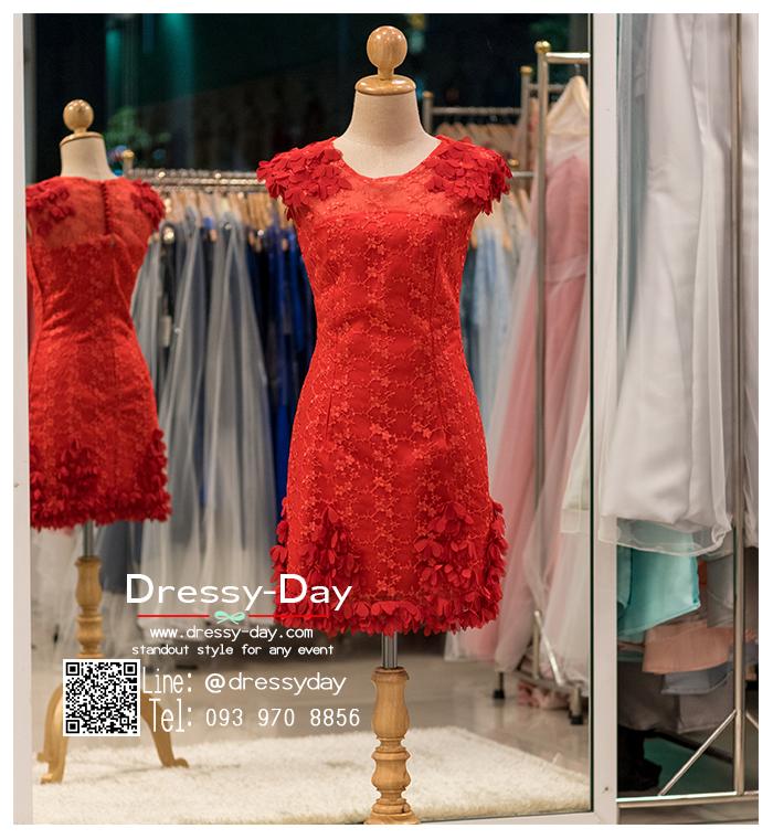 รหัส ชุดราตรีสั้น : BB059 ชุดแซก ชุดราตรี สีแดง แขนกุด เรียบหรูเหมาะใส่ออกงานกลางคืน งานคอกเทล ชุดไปงานแต่งงาน
