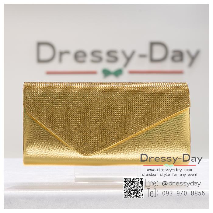 กระเป๋าออกงาน TE071 : กระเป๋าออกงานพร้อมส่ง สีทอง ดีเทลเพชร สุดหรู ราคาถูกกว่าห้าง ถือออกงาน หรือ สะพายออกงาน สวย หรู ดูดีเริ่ดมากค่ะ