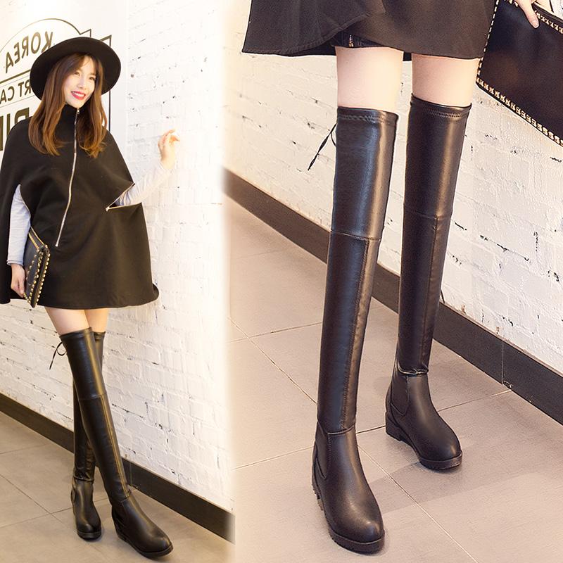 รองเท้าบูทยาวหนังแท้ผู้หญิง Leather Boot Shoes