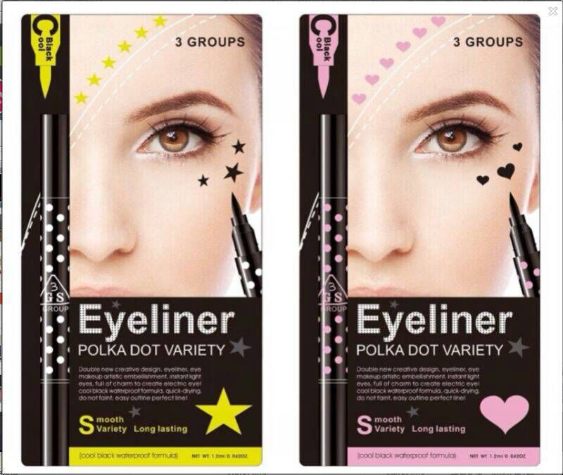 3GS Eyeliner Polka Dot Variety Cool Black 2 in 1