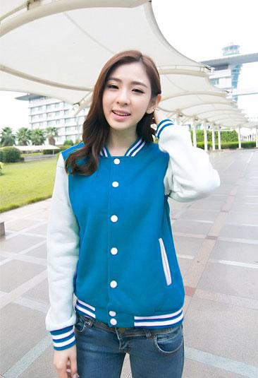 เสื้อคลุมแฟชั่น Classic stlye สวยปนเท่ห์สไตล์เกาหลี รหัส 1662-สีฟ้า