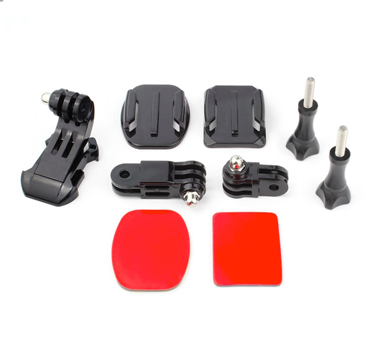 GoPro Helmet Front Mount for Go Pro Hero 5 4 3 2 GoPro Accessories with Adjustment Curved Adhesive Bracket J-Hook Buckle