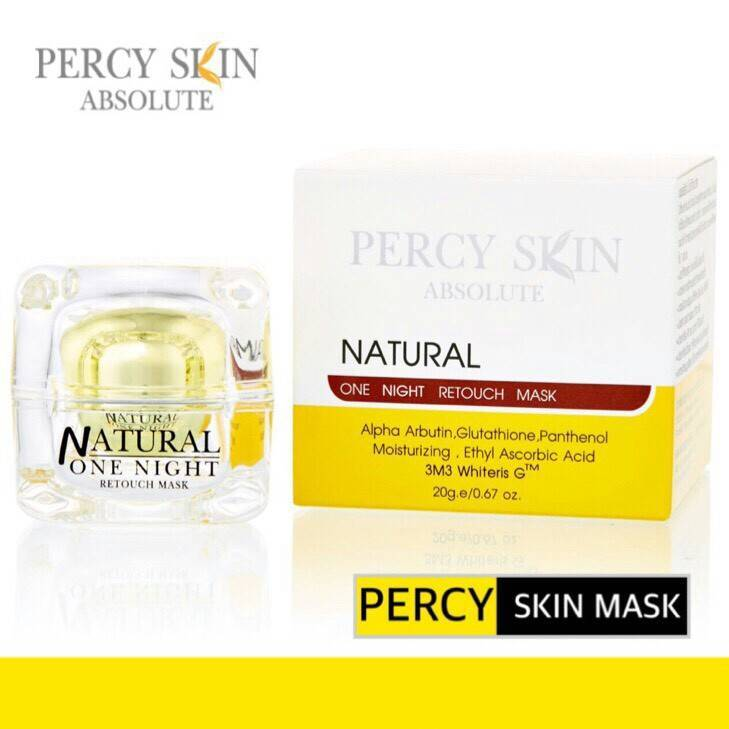 PERCY SKIN ABSOLUTE NATURAL ONE NIGHT RETOUCH MASK เพอร์ซี่ สกิน มาส์ค เปลี่ยนหน้าโทรม เป็นหน้าใสใน 1 คืน