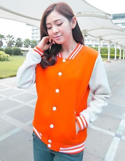 เสื้อคลุมแฟชั่น Classic stlye สวยปนเท่ห์สไตล์เกาหลี รหัส 1662-สีส้ม