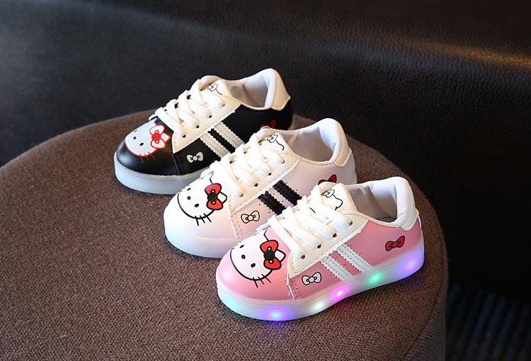 รองเท้าผ้าใบ คิตตี้ สีชมพู ,สีขาว