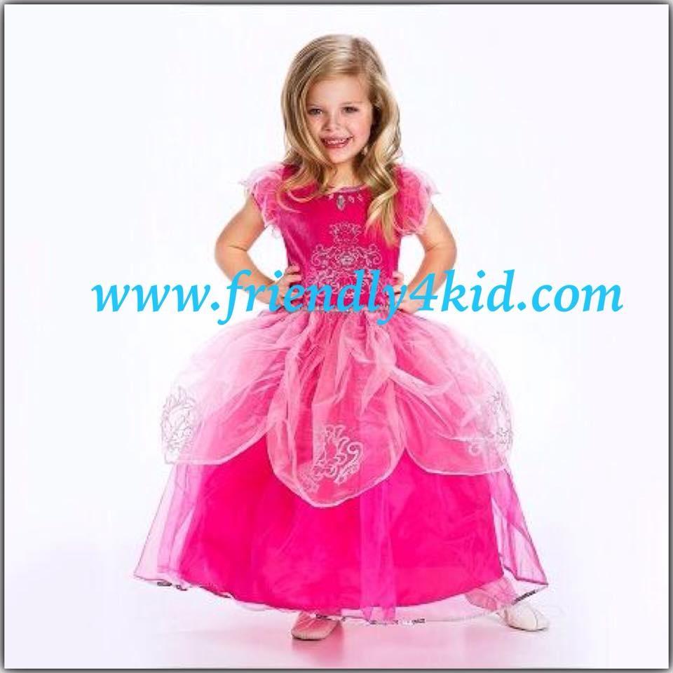 ชุดเด็ก : เดรสเจ้าหญิงสีชมพูบานเย็น