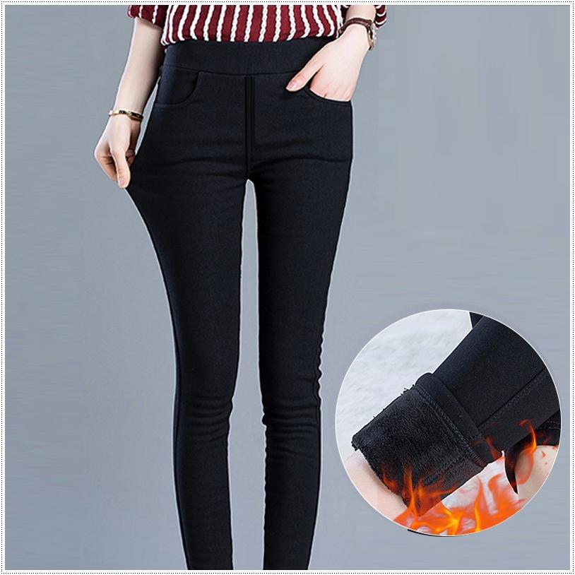 รุ่นใหม่ ! กางเกงสกินนี่วูล สีดำ บุขนแคชเมียร์เนื้อนิ่ม แบบมีกระเป๋าหน้า Skinny Wool ปลีก 620 / ส่ง 590