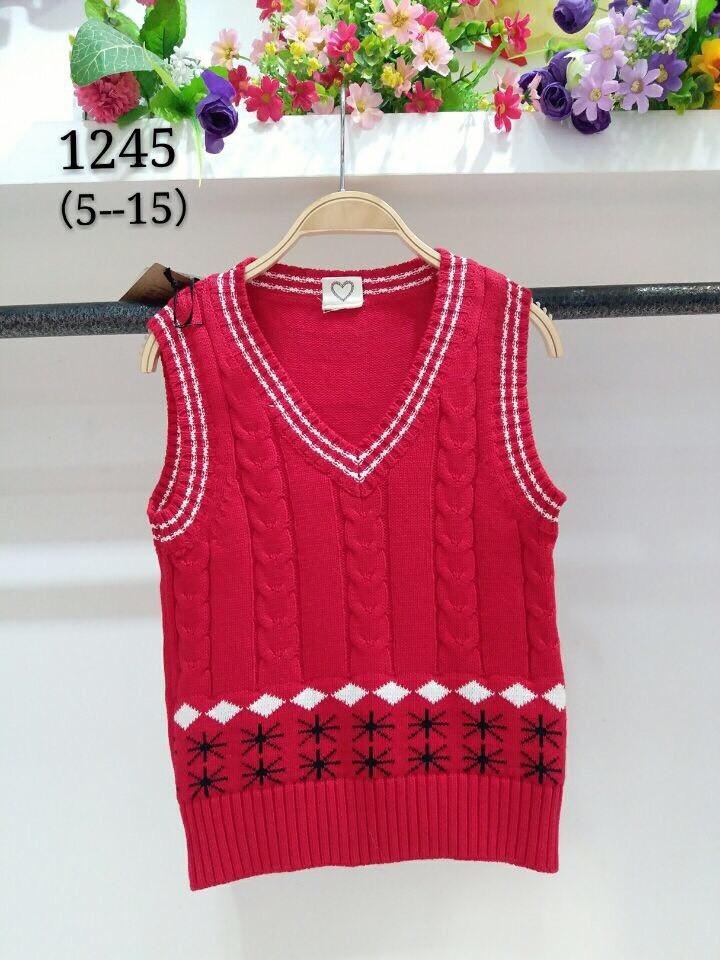 เสื้อกันหนาว : เสื้อกั๊ก สีแดง