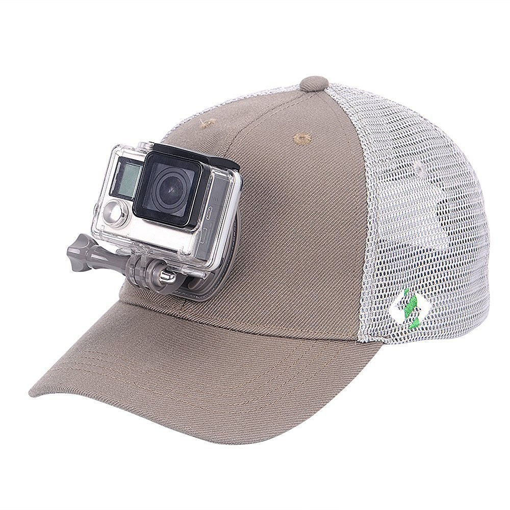 Smatree SmaHat H2 Breathable Mesh Baseball Hat for GoPro 5 Session, Hero 5/4/3+/3/2/1
