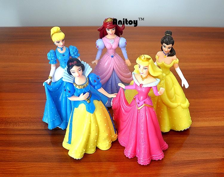 ของเล่นเด็ก ตุ๊กตาเซ็ตเจ้าหญิงสโนไวท์ตัวใหญ่ แพค 5 ตัว