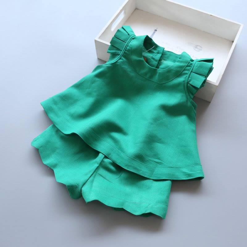 ชุดเสื้อ+กางเกง สีชมพู,เขียว