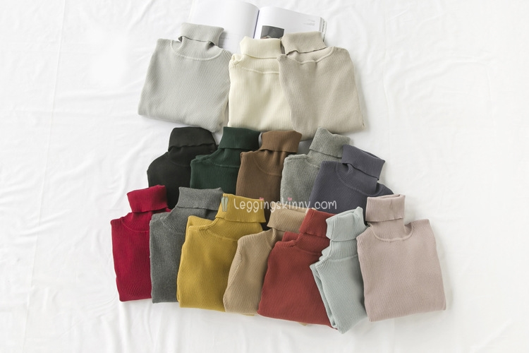 EAL เสื้อคอเต่าญี่ปุ่น รุ่นผ้าคอตตอล 9 สี