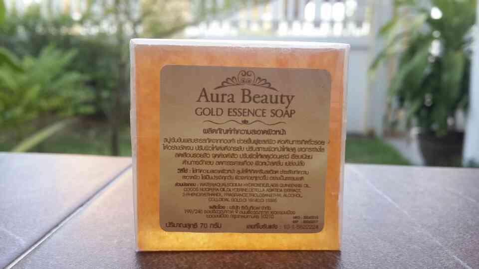 Aura Beauty Gold Essence Soap สบู่เข้มข้นผสมสารสกัดจากทองคำ