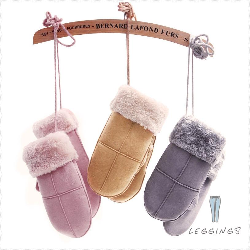 ถุงมือหนังเกาหลีกันหนาว