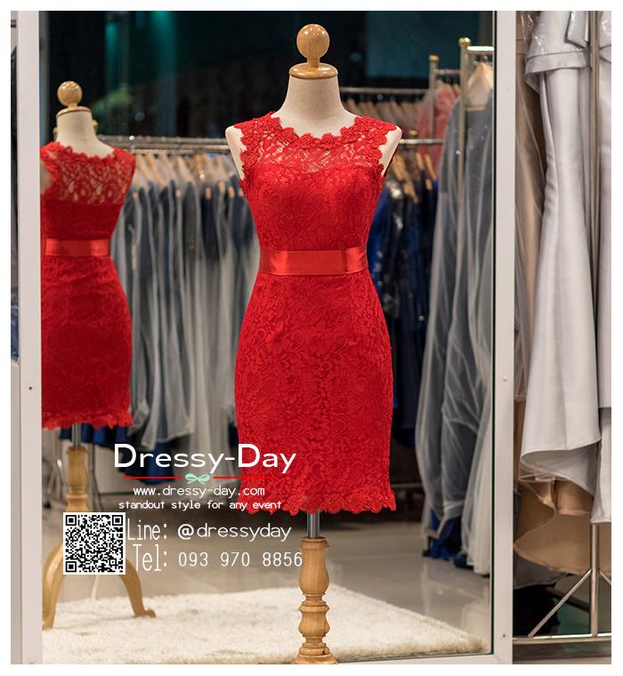 รหัส ชุดราตรีสั้น : BB060 ชุดแซก ชุดราตรี สีแดง ลูกไม้แขนกุด เรียบหรูเหมาะใส่ออกงานกลางคืน งานคอกเทล หมาะใส่ออกงานแต่งงาน งานกลางวัน กลางคืน ชุดเพื่อนเจ้าสาว