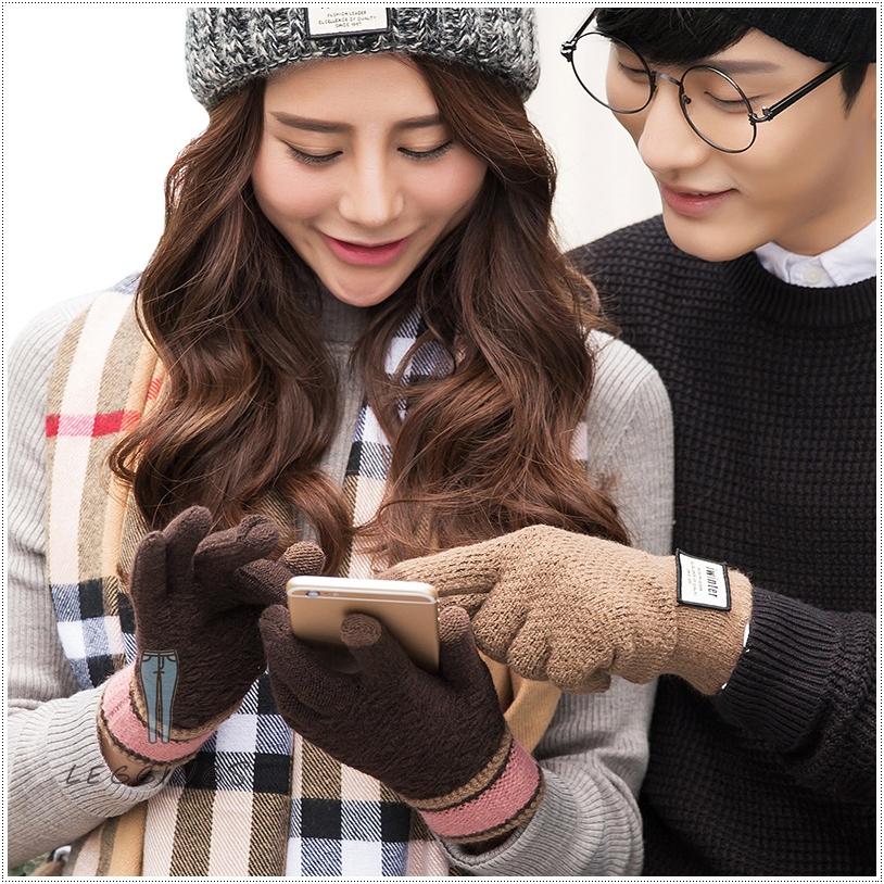ถุงมือไหมพรมเกาหลีสำหรับทัชสกรีน มีทั้งชาย/หญิง