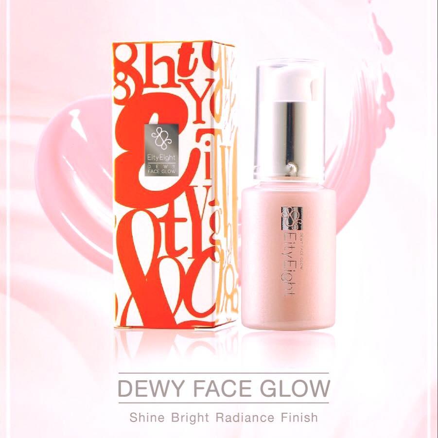 Eity Eight DEWY FACE GLOW Shine Bright Radiance Finish เอตี้ เอธ ดิวอี้ เฟส โกลว์ เปล่งประกาย สว่างใส แบบมีออร่า เบสแต่งหน้าให้ฉ่ำวาว สไตล์เกาหลี