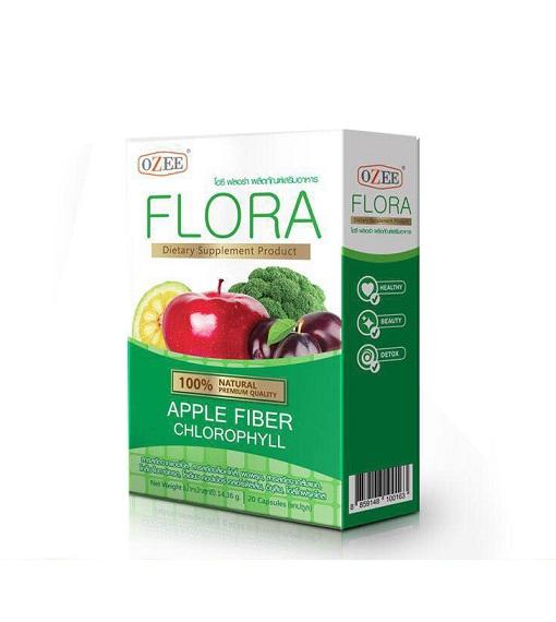 OZEE FLORA Apple Fiber Chlorophyll โอซี ฟลอร่า แอปเปิ้ล ไฟเบอร์ คลอโรฟิลล์ สะดวก ปลอดภัย สกัดจากธรรมชาติ 100%
