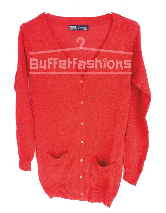 เสื้อคลุมทรงซาร่าวิ๊ง สีแดง