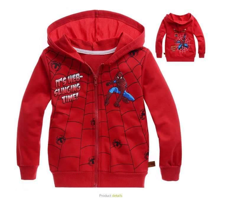 เสื้อกันหนาว สไปเดอร์แมน สีแดง
