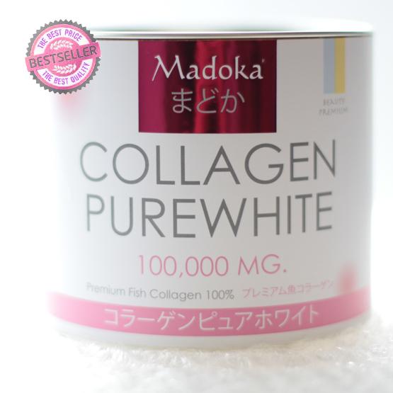 Madoka Collagen Pure White 100,000 mg. มาโดก้า คอลลาเจน เพียวไวท์ (แบบผง) เกรดพรีเมี่ยม สไตล์ญี่ปุ่น