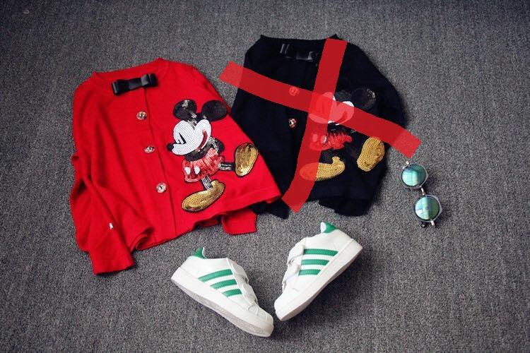 กันหนาว :เสื้อคลุมมิ๊กกี้สีแดง