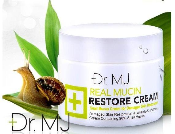 Dr.MJ Real Mucin Restore Cream ครีมบำรุงผิวสกัดเมือกหอยทากอันโด่งดั