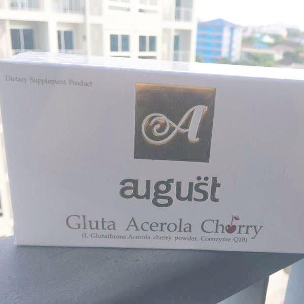 Gluta August Acerola Cherry กลูต้าออกัส สิวหาย ฝ้าหาย ลดจุดด่างดำ ขาวขึ้น 4 ระดับ