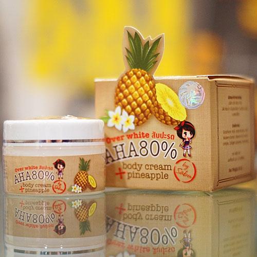 Over White Body Cream Pineapple AHA80% by Sabu ครีมสับปะรด