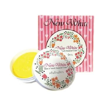 New White White & Smooth Deodorant Cream นิวไวท์ ครีมรักแร้ขาว ปรับสีผิวใต้วงแขน ให้ขาวเรียบเนียนสม่ำเสมอ