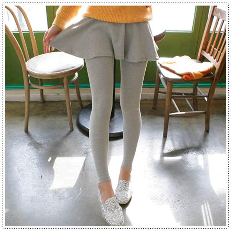 เลคกิ้งกระโปรงเกาหลีแบบจีบบาน 3 สี ดำ เทาเข้ม เทาอ่อน ปลีก 290 / ส่ง 260