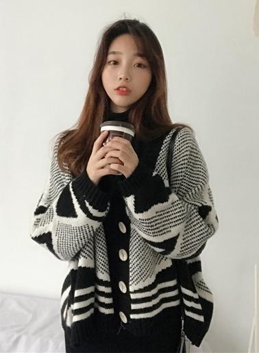 เสื้อไหมพรมแฟชั่น ใส่กันหนาวได้ดีสไตล์เกาหลี รหัส 1748