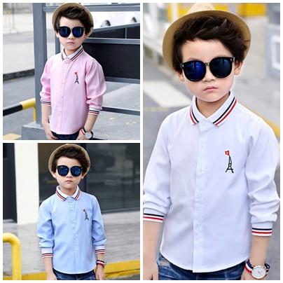 เสื้อเชิ๊ตแขนยาว สีฟ้า,สีชมพู, สีขาว
