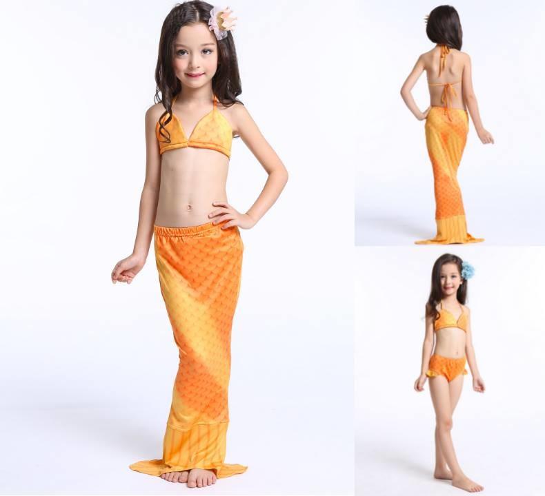 ชุดว่ายน้ำ เซ็ตหางปลาสีเหลือง