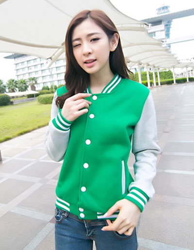 เสื้อคลุมแฟชั่น Classic stlye สวยปนเท่ห์สไตล์เกาหลี รหัส 1662-สีเขียว