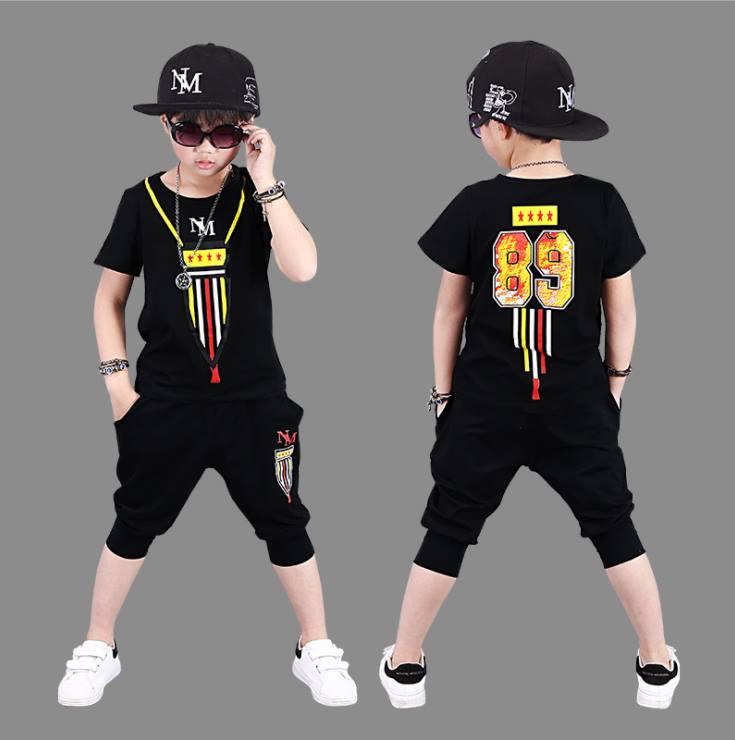 ชุดเซ็ต เสื้อ+กางเกงสีดำ เลข 89