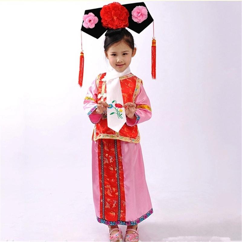 ชุดจีนฮองเฮา สีชมพู-แดง