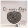 กระเป๋าออกงาน TE042 : กระเป๋าคลัชออกงานพร้อมส่ง รูปหัวใจสีดำ ถือหรือสะพายออกงานเช้า กลางวัน กลางคืน สวยหรูและปังมาก ราคาถูกกว่าห้างเยอะ
