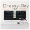กระเป๋าออกงาน TE018 : กระเป๋าออกงานพร้อมส่ง สีดำ ดีเทลเพชรประดับมุก สุดหรู ราคาถูกกว่าห้าง ถือออกงาน หรือ สะพายออกงาน สวย หรู ดูดีเริ่ดมากค่ะ สำเนา