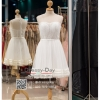 รหัส ชุดไปงานแต่ง : PF131 ชุดราตรีสั้น สีขาว แขนกุด ช่วงบนซีรูปักลูกปัดสุดหรู ซับในกระโปรงผ้าลูกไม้ กระโปรงด้านนอกผ้าตาข่ายเนื้อนิ่ม ใส่ไปงานแต่งงานกลางวัน งานรับปริญญา งานเลี้ยง งานประกวด ถ่ายพรีเวดดิ้ง ชุดงานหมั้น ชุดพิธีกร สวยมากค่ะ