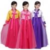 ชุดฮันบก สไตล์เกาหลีสีชมพู/สีม่วง/สีเหลือง