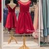 รหัส ชุดราตรีสั้น : PF128 ชุดราตรีแบบสั้นสีเเดง แบบเรียบหรู เพิ่มความน่ารักด้วยโบว์ฺเล็กๆ ที่เอว เหมาะสำหรับงานแต่งงาน งานกลางคืน กาล่าดินเนอร์