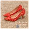 รหัส รองเท้าไปงาน : RR007 รองเท้าเจ้าสาว พร้อมส่ง สีแดง ปักดิ้นทอง สวย สง่า ดูดีแบบเจ้าหญิง ใส่เป็นรองเท้าคู่กับชุดกี่เพ้า ชุดยกน้ำชา ชุดงานหมั้น หรือ ใส่ออกงาน กลางวัน กลางคืน สวยสง่าดูดีมากคะ ราคาถูกกว่าห้างเยอะ