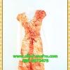 2432เสื้อผ้าคนอ้วน เสื้อผ้าแฟชั่นผ้าวาเลนติโน่สีส้มหรูมั่นใจสไตล์เรียบตีเกล็ดไขว์กลางอกยาวพาดด้านหน้าพรางรูปร่างเรียวบาง เกล็ด4ชั้นซ้ายขวาหรูมีระดับ แขนล้ำ ผูกโบเอว