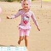 ชุดว่ายน้ำเด็ก : ชุดว่ายน้ำบอดี้สูทคิตตี้ +หมวก