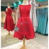 รหัส ชุดราตรีสั้น :PF132 ชุดแซก ชุดราตรีสั้น สีแดง ชุดยกน้ำชา ริมทะเล เหมาะสำหรับงานแต่งงาน งานกลางคืน กาล่าดินเนอร์