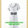 2851เสื้อผ้าคนอ้วน ชุดเดรสทำงานสีเทาปกฮาวายแต่งระบายทั้งชุดสไตล์สุภาพเป็นทางการสวมใส่ทำงาน