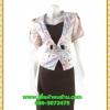 3023ชุดทํางาน เสื้อผ้าคนอ้วนผ้าลายดอกไทยวินเทจ เสื้อนอกคลุมมีชุดด้านในเย็บติดเข้ารูปร่างเอวมีสัดส่วนทรวดทรงโฉบเฉี่ยวมั่นใจแบบสไตล์สาวทำงานกระโปรงทรงสอบมีซับใน