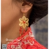 รหัส ปิ่นปักผมจีน : TR037 ขาย ต่างหู พร้อมส่ง ตุ้มหูจีน สีแดง เครื่องประดับจีน แบบโบราณ เหมาะมากสำหรับใส่ในพิธียกน้ำชา และงานแต่งงานธรรมเนียมจีน สำเนา สำเนา